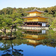 Quando moramos no Japão entre 2004 e 2008 visitamos alguns dos principais pontos turísticos. Um deles é bem famoso o Kinkaku-ji (Templo de Ouro) que fica na cidade de Kyoto.  #MeLevaDeLeve #japao #Kyoto #asia #kinkakuji #templodeouro
