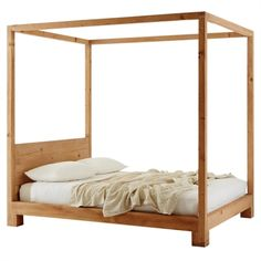 Mark Tuckey simple 4 poster bed #bedroomdesign