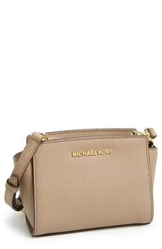 MICHAEL Michael Kors 'Selma - Mini' Saffiano Leather Messenger Bag | Nordstrom