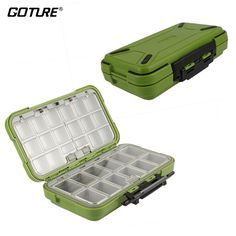 Goture Fishing-Lure-Boxes-Bait Tackle-Plastic-Storage, Small-Lure-Case, Mini-Lure-Box for Vest, Fishing-Accessories Large Boxes Storage Containers (Fly Fishing Box) Fly Fishing Tackle, Fishing Tackle Box, Bait And Tackle, Fishing Tools, Fishing Equipment, Fishing Tricks, Tackle Shop, Walleye Fishing, Fishing Lures