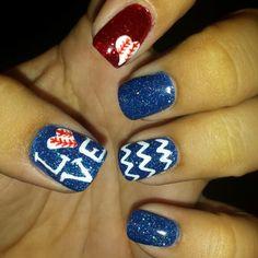 baseball nails! #beechcreeksalon #polished2at