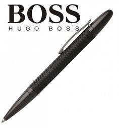 HUGO BOSS - oceľové pero (pletená oceľ) čierna PVD úprava (BLACK/BLACK) Hugo Boss, Black, Black People