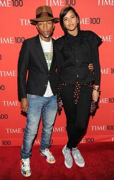 Pharrell Williams + wife Helen Lasichanh
