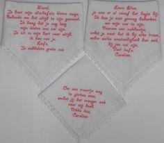dames zakdoekjes geborduurd wedding bruiloft