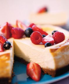 Creamy cheesecake with berry topping, excerpted from Deliciously G-Free by Elisabeth Hasselbeck.