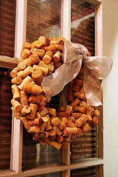 DIY: cork wreath by ashleyv, via Flickr