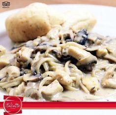 En #italiatto #pastas de pollo con champiñones. #Cartagena #plazaJoeArroyo #pizzas @NOTICARTAGENA