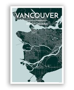 "Point Two Design vancouver-city-map print 36"" Unframed US$18"