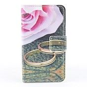 Pink Rose Pattern PU Full Body Case with Card... – EUR € 5.51
