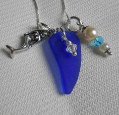 Genuine Sea Glass Jewelry  Beach Glass Cluster by SeaFindDesigns