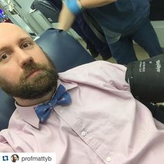 Thank you @profmattyb for giving today! You give blood you teach and you have that awesome beard... We can safely say that you are pretty darn good. #rappahannock #community #college #comm_college #instructor #instacollege #blooddrive #redcross #nnk #northernneck #northernneckva #middlepeninsula