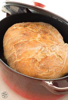 """Pane fatto in casa? """"No-Knead Dutch Oven Bread"""" e passa la paura! Civiconumerosei"""