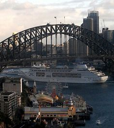 Pacific pearl P&o Cruises, Cruise Ships, Sydney Harbour Bridge, Bridges, Princesses, Over The Years, Places Ive Been, The Good Place, Pearl