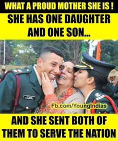 Indian mom - WE young Indians are proud of this brave mother. Young India