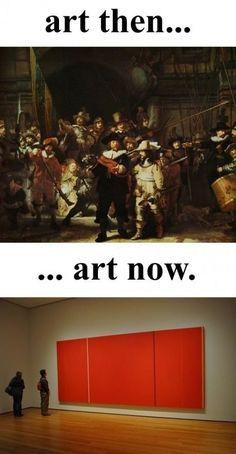 Art then ... Art now.