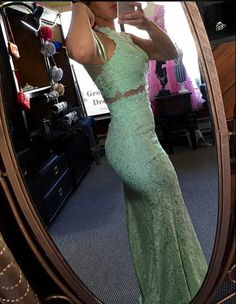 2016 Hot Lace Mermaid Real Made Prom Dresses,Long Evening Dresses,Prom Dresses On Sale - Thumbnail 2