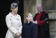 Sophie and Countess of Wessex - Queen Elizabeth II Attends The Easter Day Service At Windsor Castle