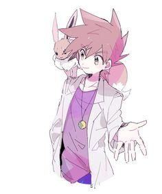 Shigeru/Gary from the Pokemon Anime with Eevee by たらこのこ on Pixiv Gary Pokemon, Pokemon Ships, Pokemon Comics, Pokemon Memes, Cute Pokemon, Pokemon Team Leaders, Pokemon Rouge, Gary Oak, Green Pokemon