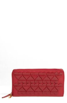 e9ed19290 MARC JACOBS Heart Appliqué Continental Wallet Marc Jacobs, Just Beauty,  Continental Wallet, Zip