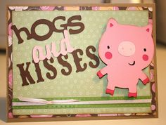 Crafts-n-Cards Cricut Corner: Just Because Cards words with create a critter pig