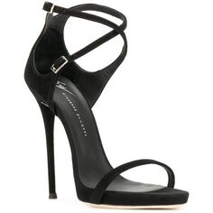 Giuseppe Zanotti Design Darcie sandals (1.735 BRL) ❤ liked on Polyvore featuring shoes, sandals, leather shoes, stiletto high heel shoes, giuseppe zanotti sandals, high heel stilettos and heels stilettos