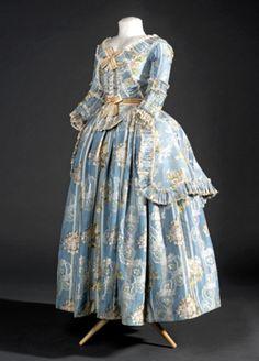 Polonaise jacket and petticoat, 1782-87
