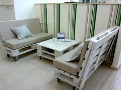Pallet Sofa Set on Wheels - 50+ DIY Pallet Ideas That Can Improve Your Home | Pallet Furniture - Part 5