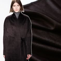 Cheap cashmere wool fabric, Buy Quality wool fabric directly from China fabric for Suppliers: 150CM Wide 500G/M Weight Chocolate Color Cashmere Wool Fabric for Autumn and Winter Dress Outwear Overcoat Jacket E538