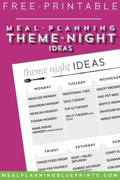 Theme Night Ideas| F
