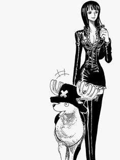 Chopper and Robin throughout the years Black And White Picture Wall, Black And White Wallpaper, Black And White Pictures, One Piece Drawing, One Piece Manga, Nico Robin, Anime Lineart, Different Art Styles, One Piece Images