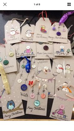Christmas Crafts For Gifts, Diy Christmas Cards, Christmas Projects, Craft Gifts, Christmas Decorations, Christmas Ornaments, Diy Gifts, Christmas Tags Handmade, Etsy Christmas