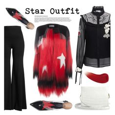 """""""Twinkle, Twinkle: Star Outfits"""" by the-geek-goddess ❤ liked on Polyvore featuring RED Valentino, Rosetta Getty, Krasimira Stoyneva, Nancy Gonzalez, Lipstick Queen and StarOutfits"""