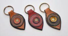 llavero 3 - key ring fob in leather