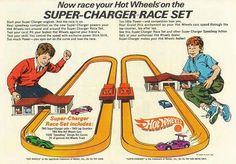 Vintage Hot Wheels ad. I had this race track. It was my best childhood Christmas memory.