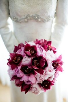 Pink Peonies and Orchids