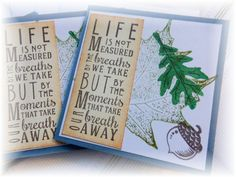 3x3  Note cards Life is Measured  Mini Note Cards by HeartsCalling