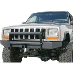Olympic 4x4 Products Part oly610-114 - Front End Guard - Fits 1976 to 1995 YJ Wrangler and CJ - 4 Wheel Drive
