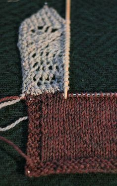 Miriam Felton's tutorial for a knitted-on border