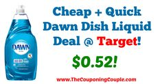 AWESOME Deal!!! Plus you may be able to save an extra $0.10 if you received the MobiSave Offer! Cheap + Quick Dawn Dish Liquid Deal @ Target!  Click the link below to get all of the details ► http://www.thecouponingcouple.com/cheap-quick-dawn-dish-liquid-deal-target/ #Coupons #Couponing #CouponCommunity  Visit us at http://www.thecouponingcouple.com for more great posts!