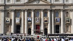 Pope Francis on Sunday declared Pope Paul VI and murdered Salvadoran bishop Oscar Romero Saints. The canonization Mass, during which five other . Catholic Saints, Pope Francis, Vatican, Christianity, Greek, Street View, Sunday, News, Greek Language