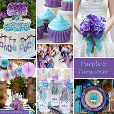 Purple and Teal swatches to stay away from... too pastel! Reminds me of a baby shower...
