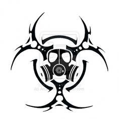 radiation symbol Tattoos | Biohazard Symbol Tattoos Page 2