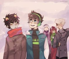 so I thought maybe Karkat has never seen snow before and yeaH here's some wintery pic :>