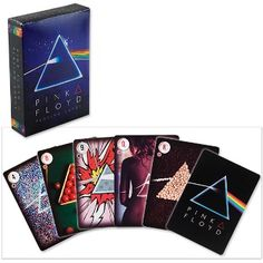 Pink Floyd - Dark Side of the Moon Playing Cards. This Pink Floyd playing card deck contains 52 playing cards with a variety of images from the series on each card.This official poker-size deck features 52 classic pieces of The Dark Side of the Moon album art! A must for every fan of Pink Floyd! Officially licensed Pink Floyd merchandise.