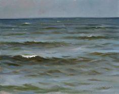 "JEFFREY T. LARSON - ""Lake Superior"" ~  oil on panel  8"" x 10"" ~ 1996"