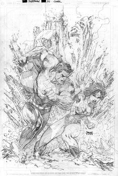 Superman 211 Cover Pencils by jimlee00.deviantart.com on @deviantART