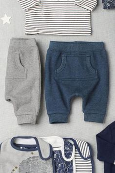 Boys' Clothing (newborn-5t) Frank Next Baby Boy Grey Joggers 6-9 Months Whale Icon