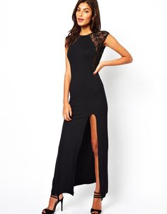ASOS Lace Insert Maxi Dress