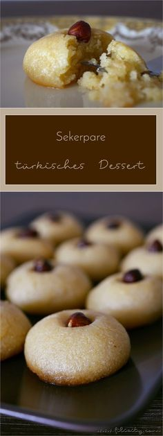 Sekerpare  - türkisches Dessert mit Weizengries und Haselnüssen #rezept #dessert #türkisch
