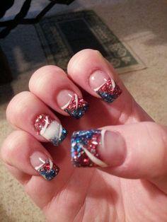 4 th July nails